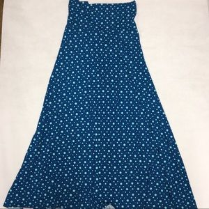LuLaRoe Skirts - LuLaRoe Maxi Long Knit Skirt XS Polka Dot Teal